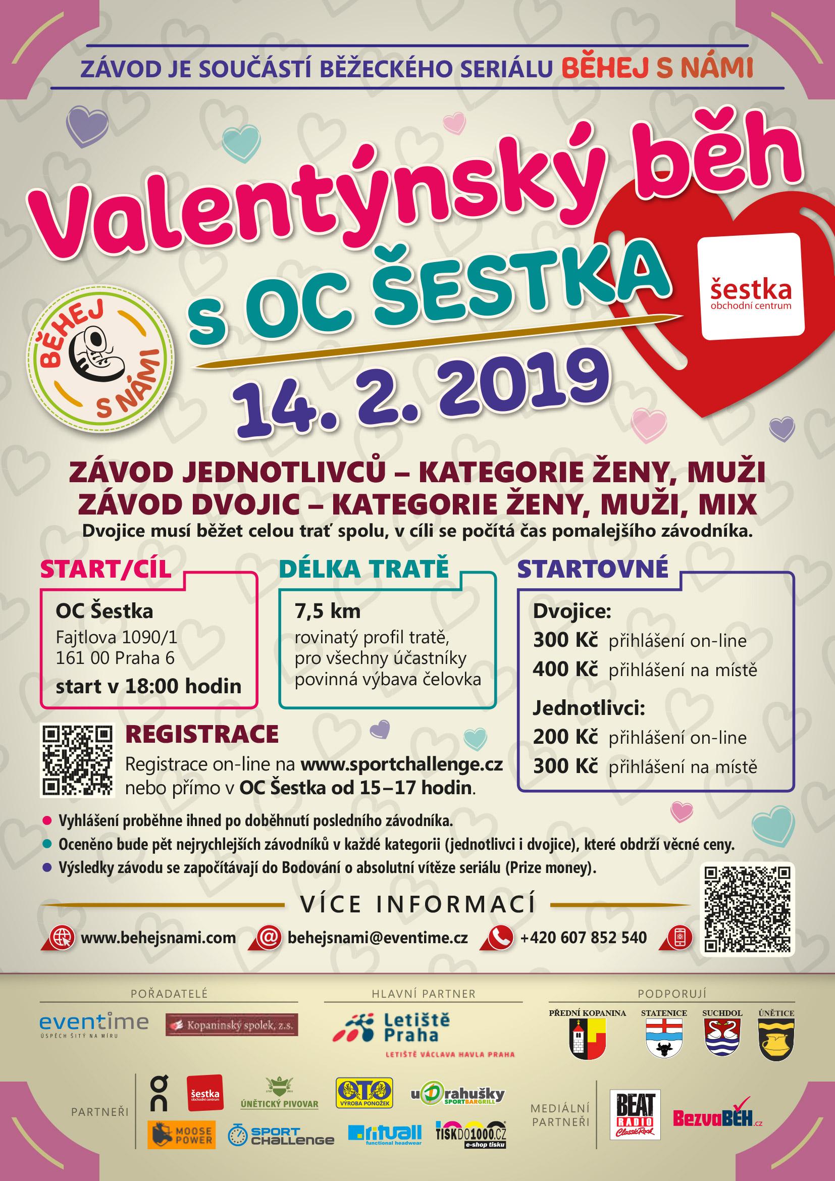 Valentýnský běh s OC Šestka