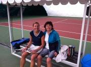 Pavlína Nová a Eva Kundeliusová zapózovaly při fandění na tenise.
